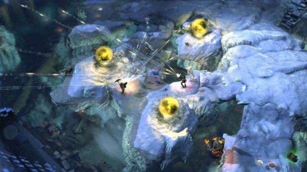 תמונת מצב מההרחבה החדשה של המשחק Lara Croft and the Temple of Osiris, בשם The Icy Death Pack