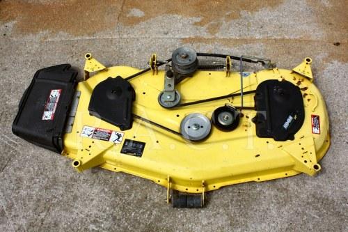 small resolution of john deere gt lx series 54 mower deck 325 345 355 deck 1
