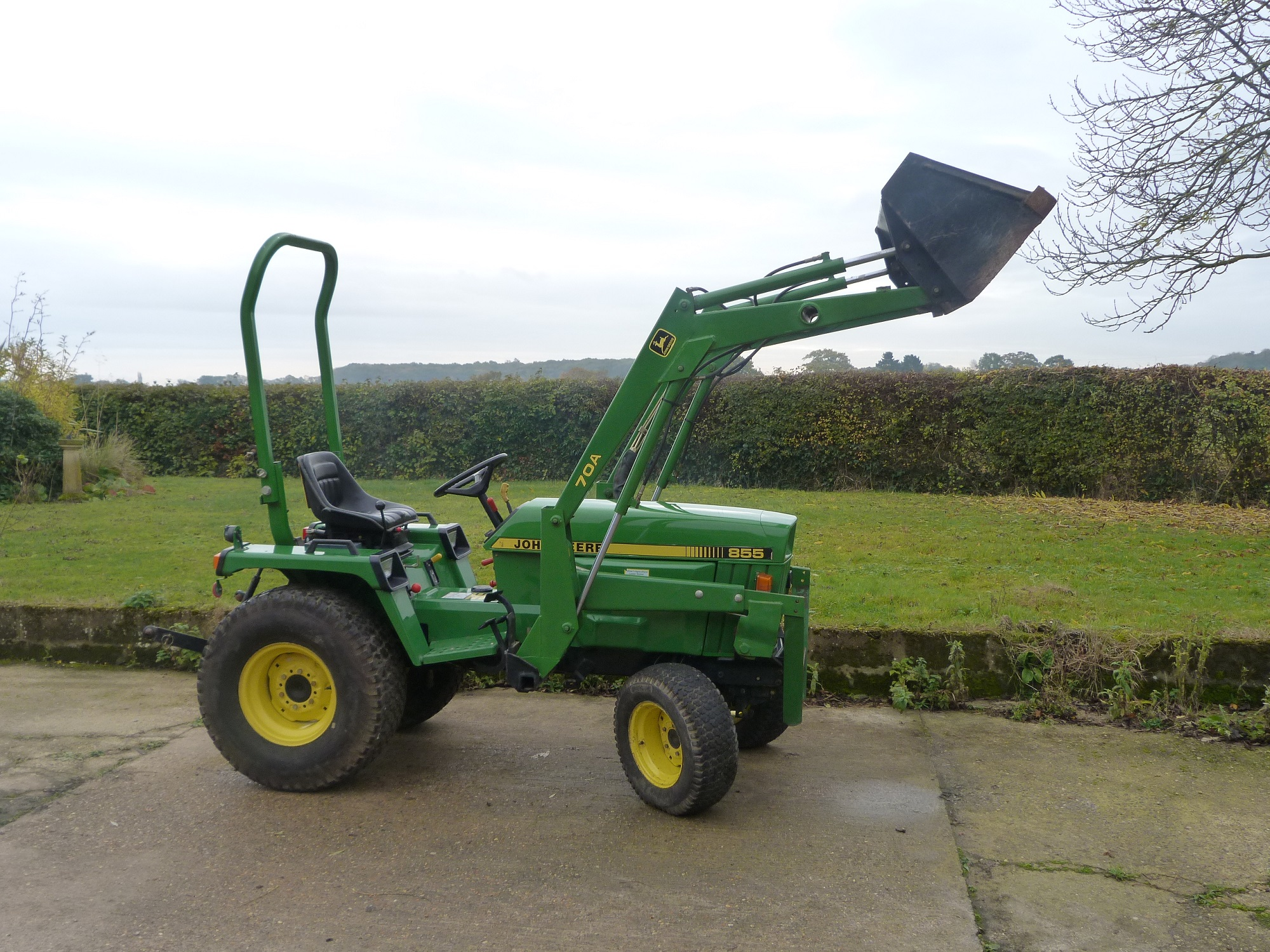 hight resolution of john deere 855 compact tractor w jd 70a front loader