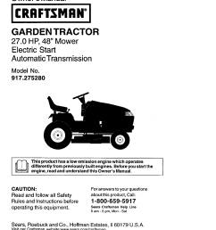 craftsman lawn mower 917 27528 user guide  [ 1220 x 1584 Pixel ]