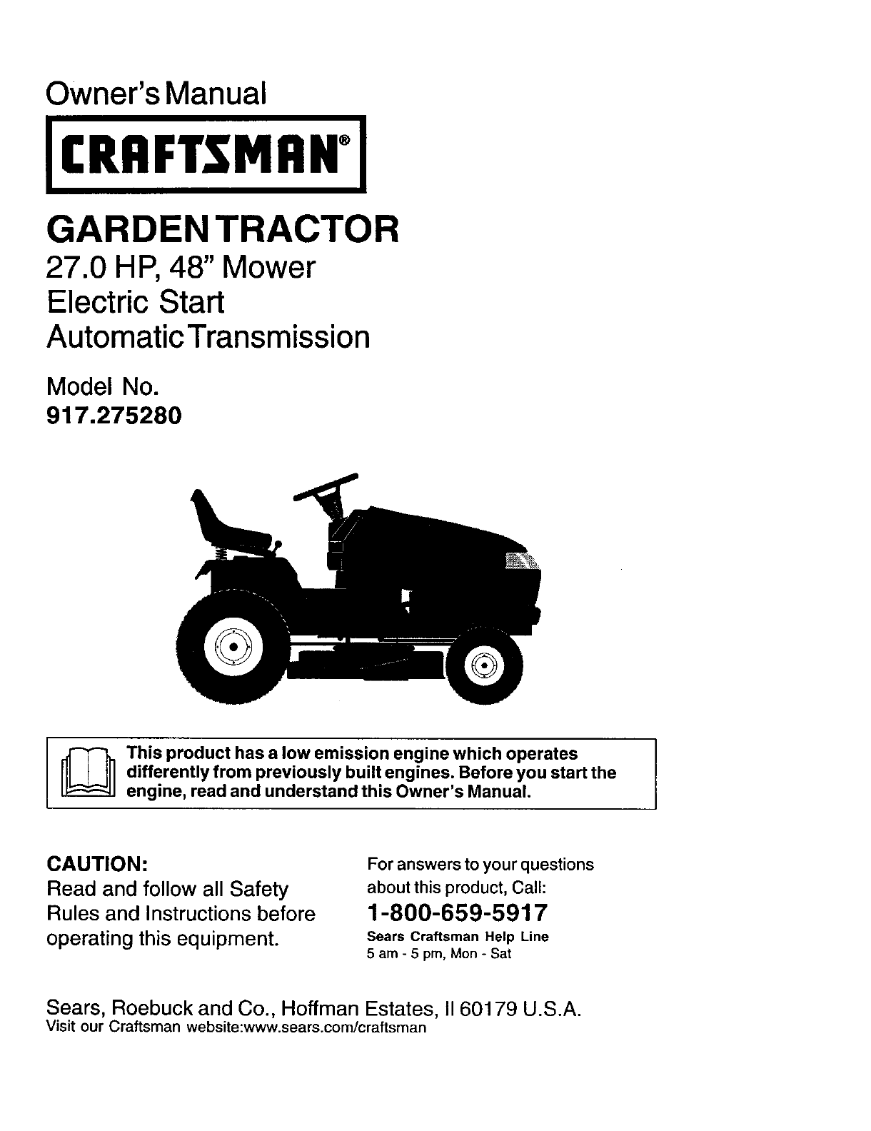 hight resolution of craftsman lawn mower 917 27528 user guide
