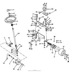 husqvarna gt 160 h1644c 1991 08 parts diagram for steering  [ 1180 x 1140 Pixel ]