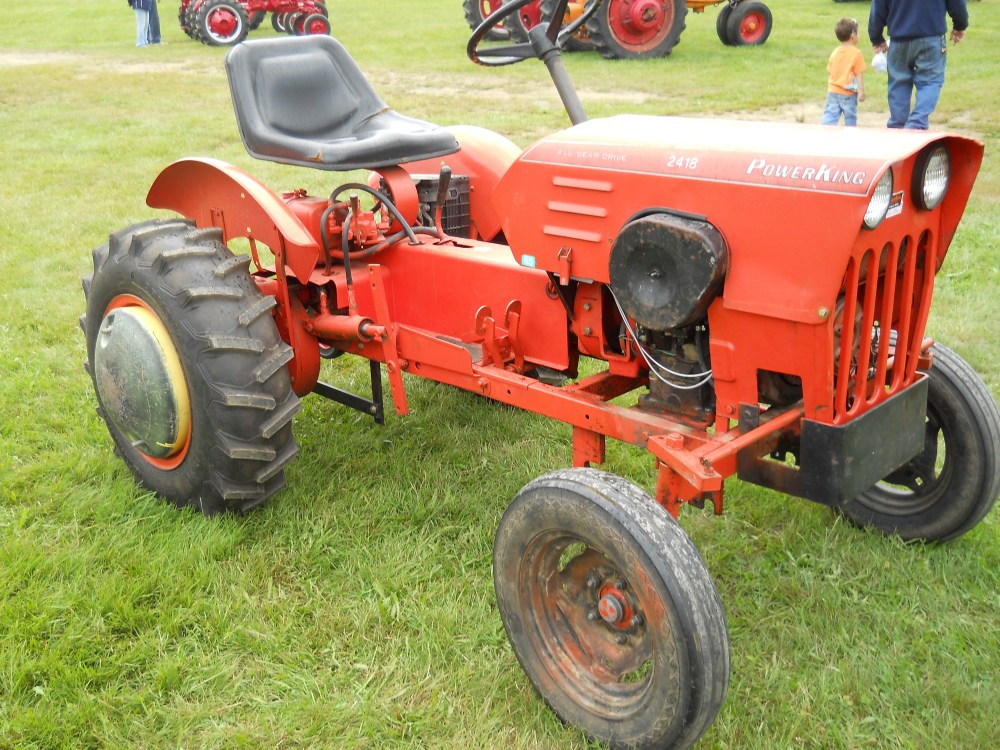 medium resolution of yard tractors garden equipment homemade forward power king 2418 all