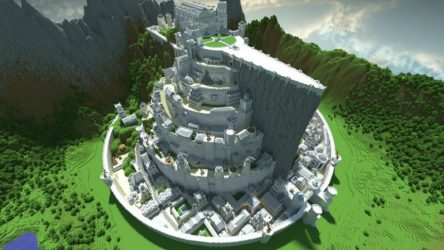minecraft builds cool tirith minas projects pcgamesn constructions need incredible