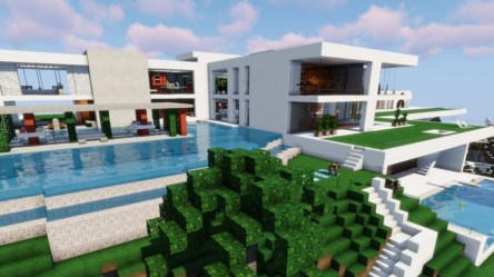 minecraft houses cool build easy mansion modern designs awesome survival wood luxury inspiration pool looking pcgamesn wooden addons building amazing