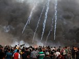 Palestinian medical officials claim that Israelis shot dead an 11-year-old boy at the Gaza border today as clashes continue