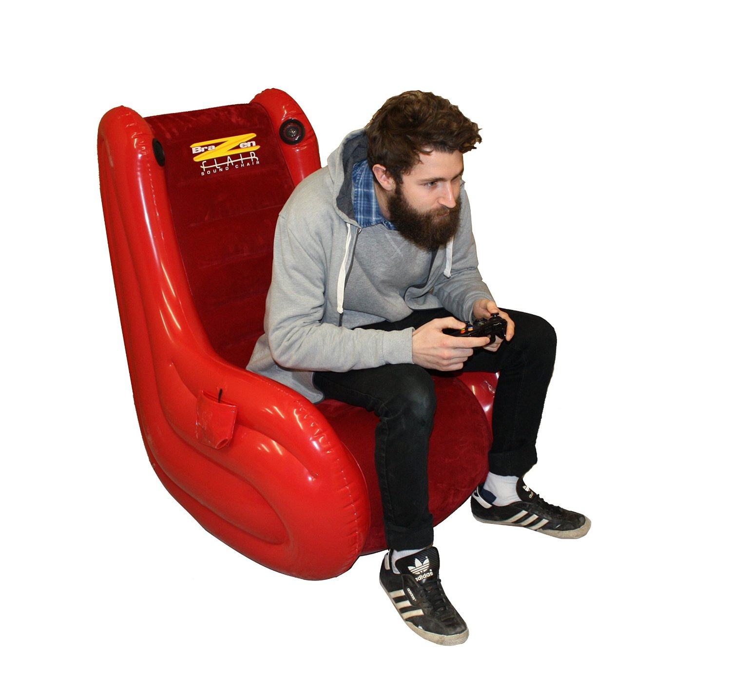 gaming chair reviews 2016 uk chairs for kids brazen flair inflatable 2 surround sound adult