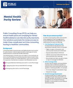 Health Policy News Mental Health Parity datasheet