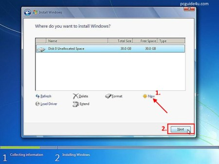 windows 7 installation steps with pictures