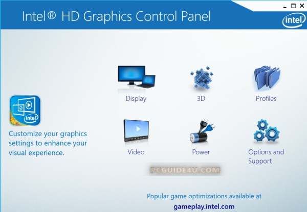 intel hd graphics control panel disappeared from context menu