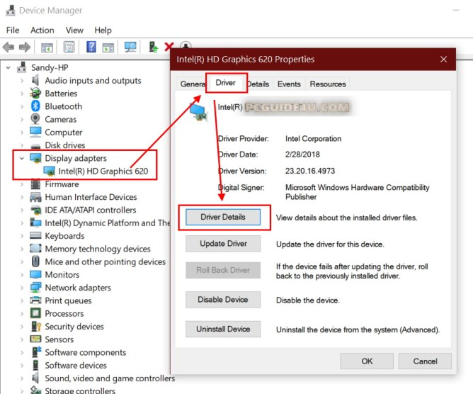 how do to my windows using dch drivers