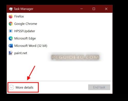 expand windows 10 task manager