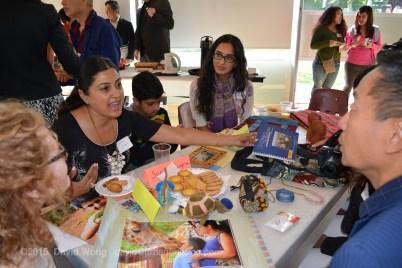 Sunita Jangra and Tina Parbhakar share stories at the Indo-African table