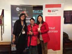 Filmmaker Sarah Ling with PCHC and explorASIAN's Eleanor with Youth Collaborative for Chinatown's Jean Tsai at the Filmmaker's Luncheon