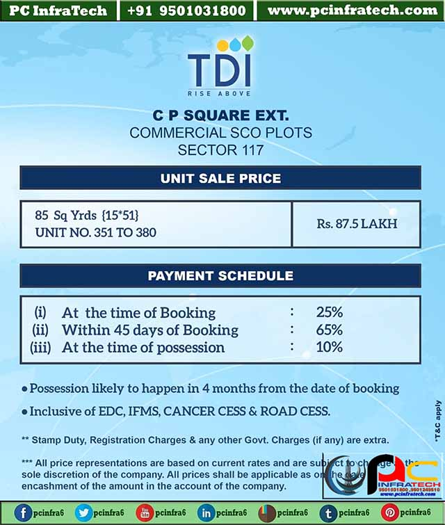 tdi showroom plots mohali