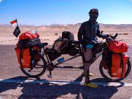 Hakam Mabruri, alumni Pondok Pesantren An Nur 2 Bululawang, Malang bersepeda menjelajahi 14 Negara di Benua Afrika