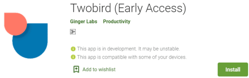 Twobird For PC Download