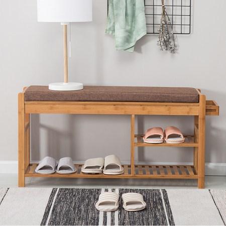 簡約現代楠竹多功能收納穿鞋椅|收納櫃|特力家購物網