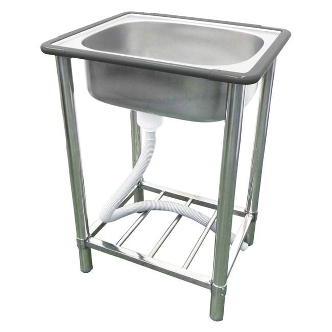 豪華型不鏽鋼單水槽(小型)|衛浴設備|特力家購物網