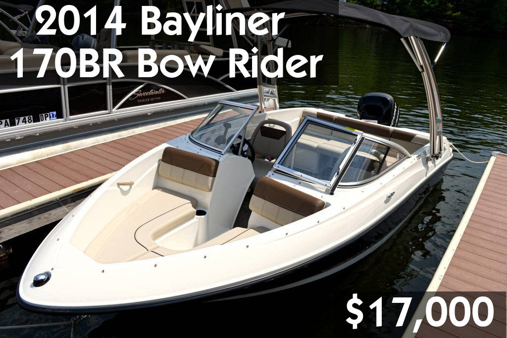 2014 Bayliner 170BR Bow Rider $17,000