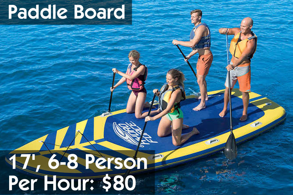 6-8 Person Paddle Board Rentals