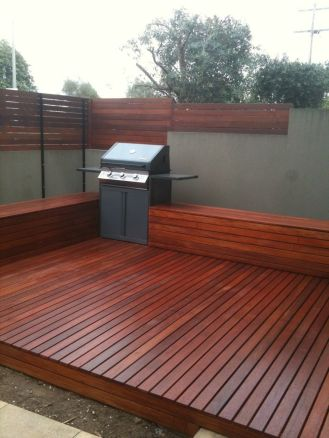 Decking, seating and privacy screening