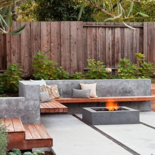 Concrete trend outdoor seating