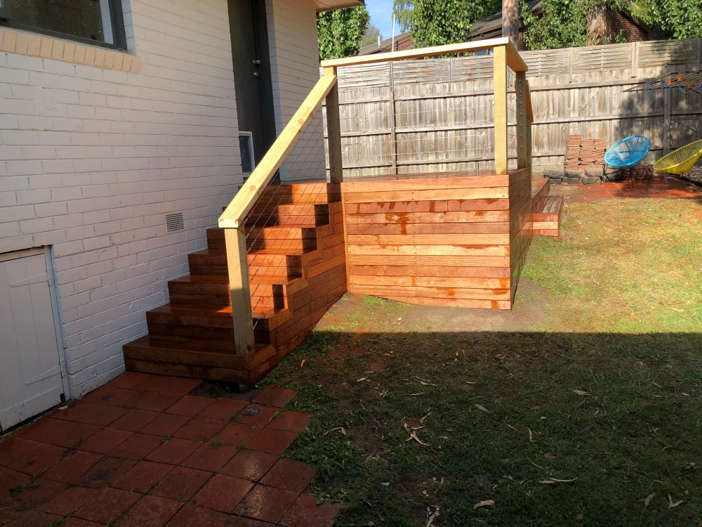 Decking, stairs and handrail build.