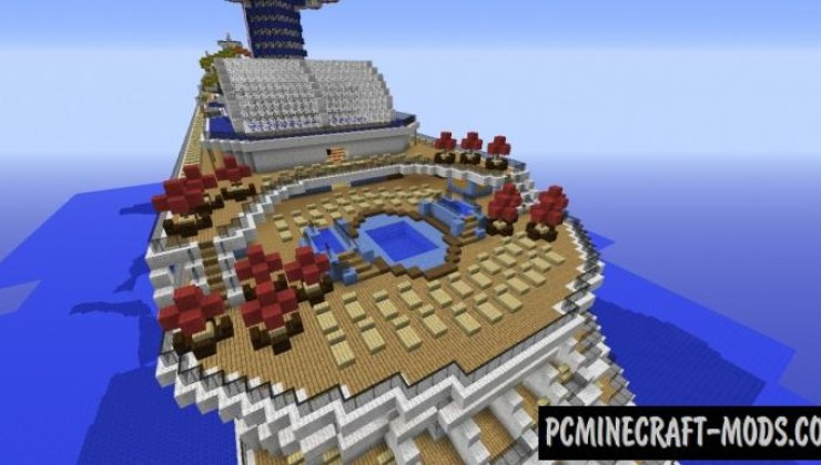 Carnival Breeze Cruise Ship Map For Minecraft 114 1132 PC Java Mods Amp Addons