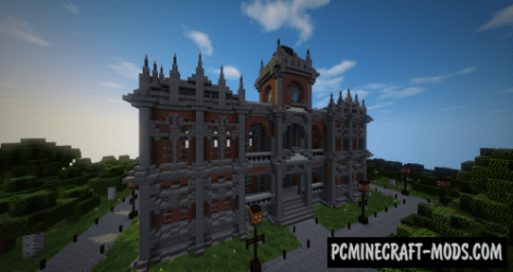 Small Victorian Town Hall Map For Minecraft 1 17 1 16 4 PC Java Mods