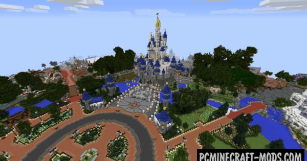 Walt Disney World Magic Kingdom Map For Minecraft 114 1