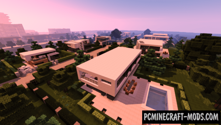 Modern Suburb Map For Minecraft 115 1144  PC Java Mods