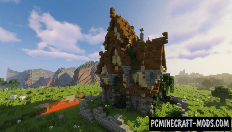 Medium Medieval House Map For Minecraft 1144 1143