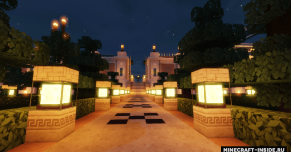 Huge Mansion And Gardens Map For Minecraft 114 1132