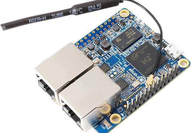 Orange Pi R1 одноплатный компьютер оснащённый двумя Ethernet-портами