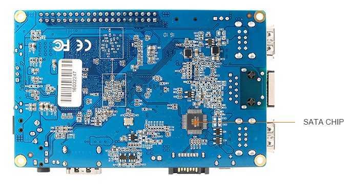 Orange Pi Plus 2 - четырехъядерный мини ПК с 2Gb RAM, 1Gb LAN, 16 Gb еMMC, SATA II