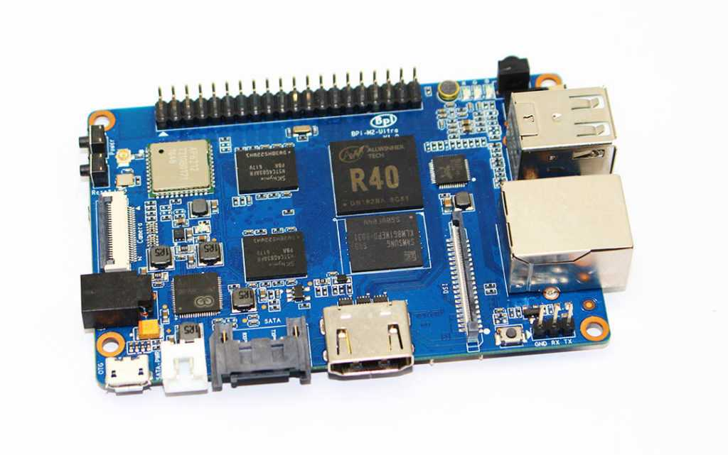 Banana Pi BPI M2 Ultra четырехъядерный мини-одноплатный компьютер на SoC Allwinner R40 с 2 Гб RAM и 8 Гб eMMC