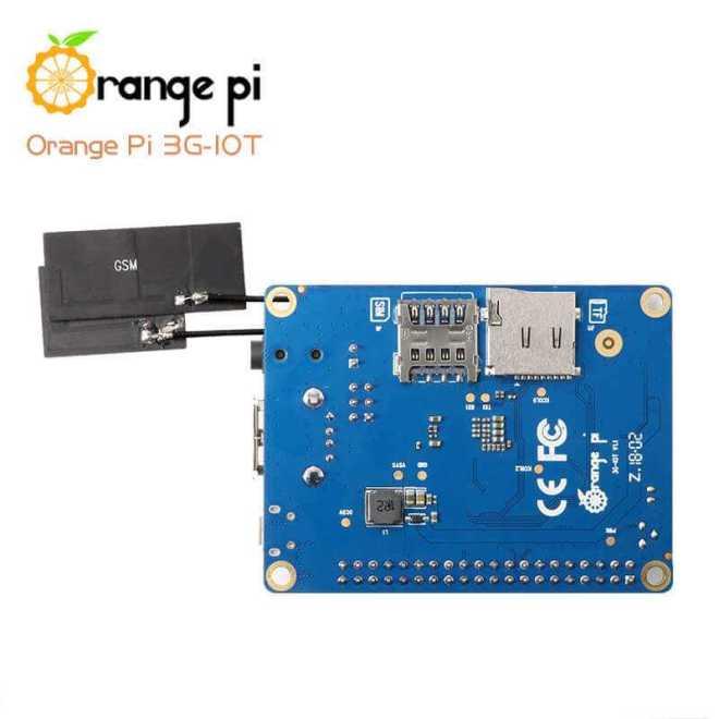 Orange Pi 3G-IoT-A/B одноплатный компьютер с 2G, 3G радиомодулем