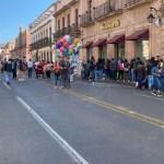 Gente en el centro de Morelia pese a COVID-19