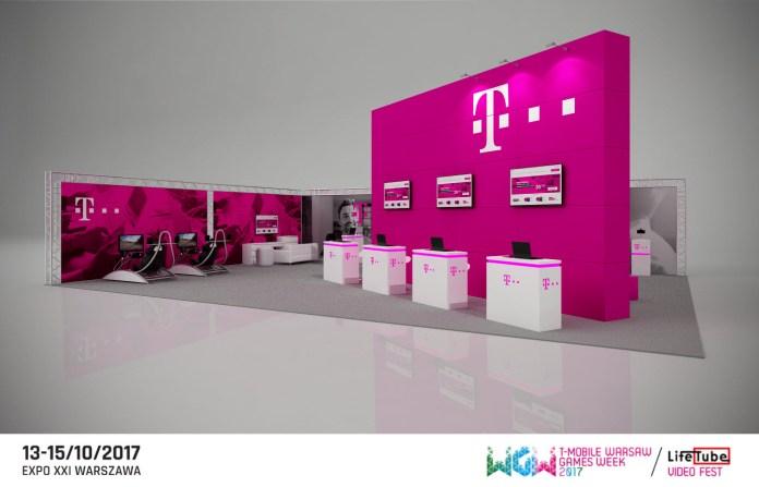 Warsaw Games Week 2017 - stoisko T-Mobile