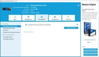 WD Blue SN500 500 GB - WD Dashboard