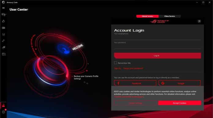 ASUS ROG Strix B550-I Gaming - Armoury Crate - User Center