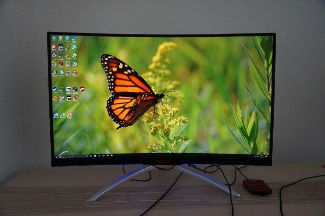 AOC AG322QCX front on AOC AGON AG322QCX   The 32 inch curved screen gaming monitor