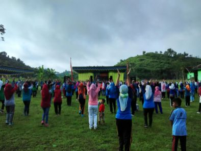 Senam Masal Semarak 50 Tahun SD Muhammadiyah Bedoyo