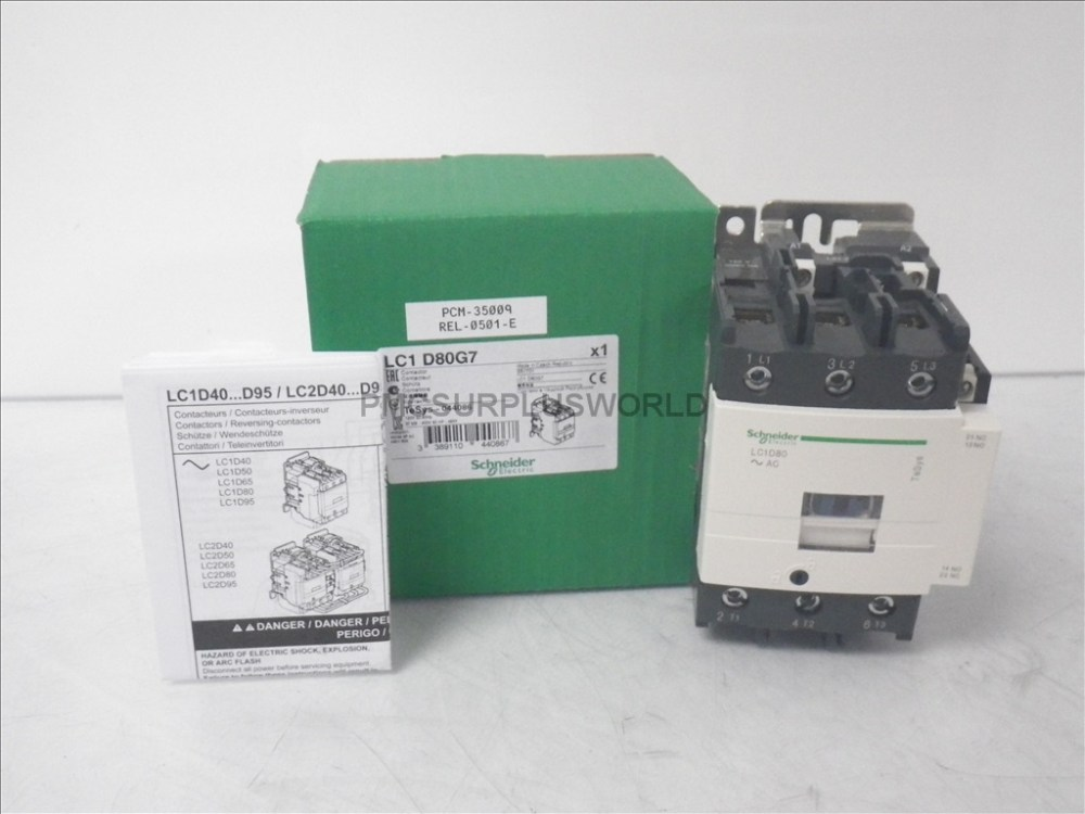 medium resolution of lc1d80g7 schneider contactor 600vac 80a 3 pole 120vac coil new in box