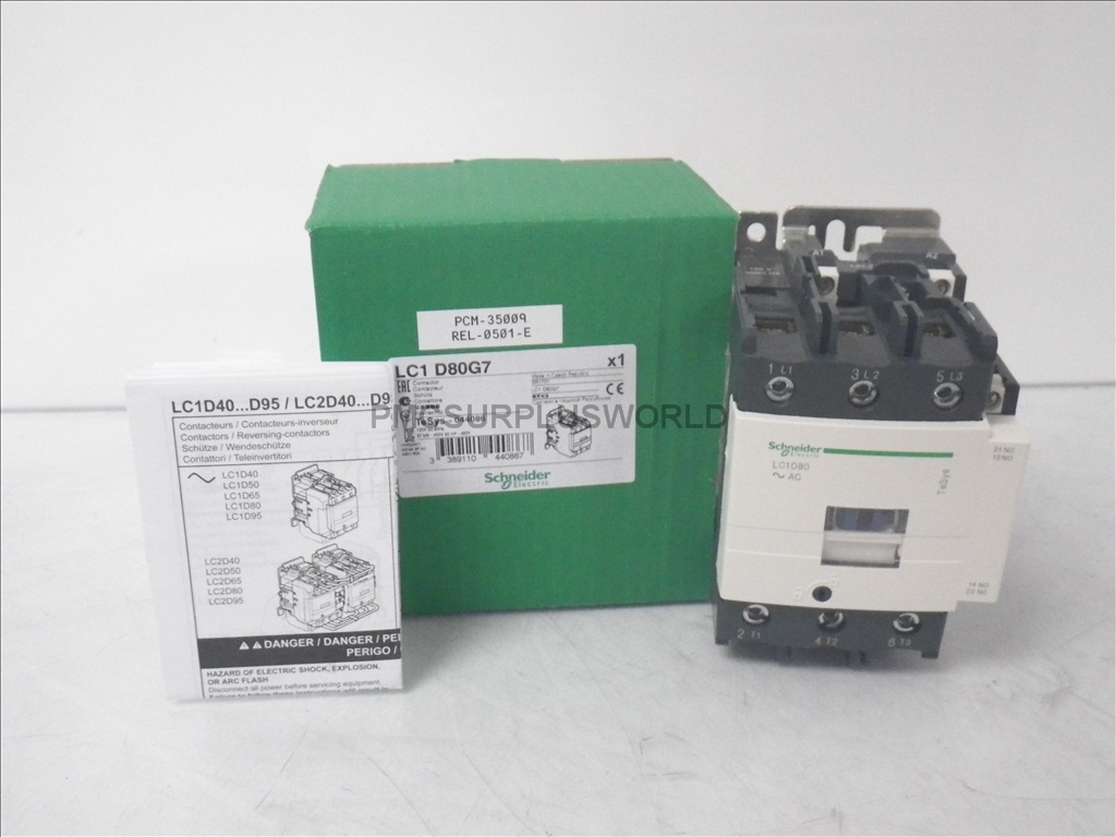 hight resolution of lc1d80g7 schneider contactor 600vac 80a 3 pole 120vac coil new in box
