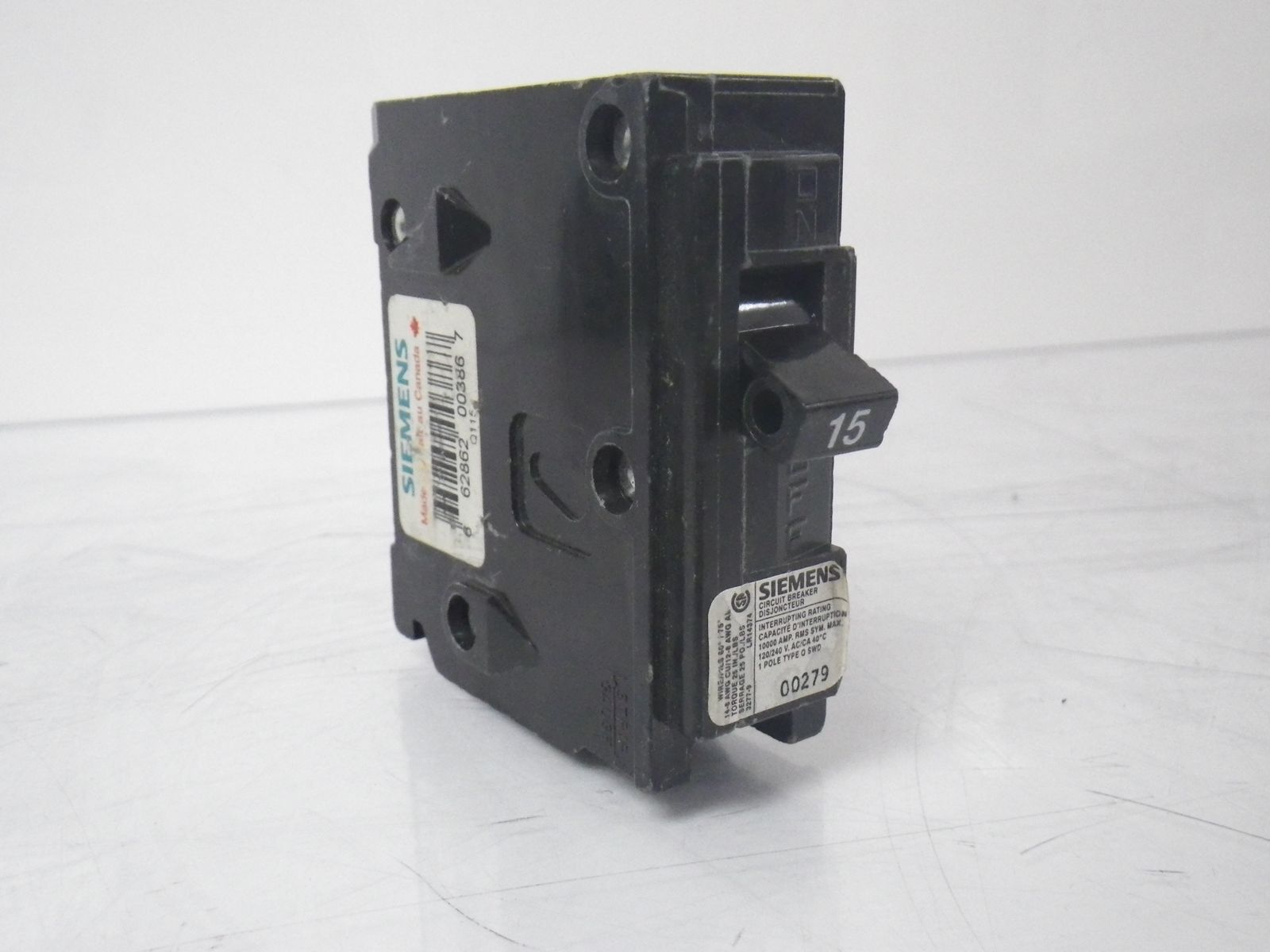 B120hh Siemens Circuit Breaker Auto Electrical Wiring Diagram Fd63f250 New Used And Obsolete Lr14374 Type Q 1 Pole