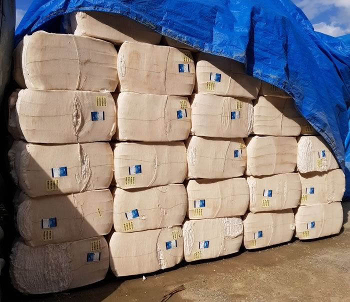 DIC de Itajaí recupera 26 toneladas de algodão