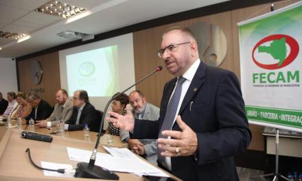 Prefeito de Itajaí assume a presidência da Federação Catarinense de Municípios