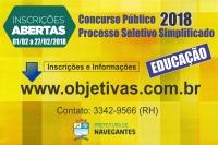 INSCRIÇÕES PARA CONCURSO PÚBLICO E PROCESSO SELETIVO SIMPLIFICADO ENCERRAM NO DIA 27 DE FEVEREIRO
